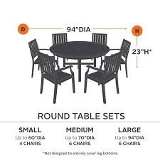 fits tables and chairs up to 94in dia x 23in h