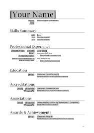 Easy Resume Template Word Basic Resume Format Simple Resume Format