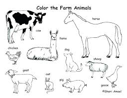 Free Coloring Pages For Kids Printable Printable Farm Animal