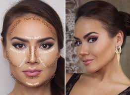 Highlighting Contouring Face Chart By Samina Khan Musely