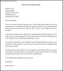 Retirement Letter Boss Sample Word Doc Templates Teacher Best