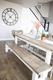 DIY Farmhouse Table and Bench Diy farmhouse table Farmhouse table