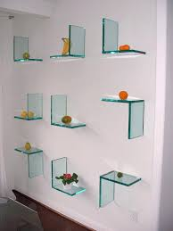 glass floating shelves bookcases shelving storage mince pictures