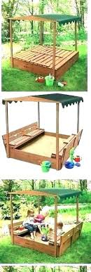sandbox with cover and canopy toys sandboxes new outdoor club n kidkraft canada