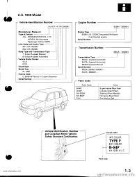 Honda Hrv 2000 Workshop Manual