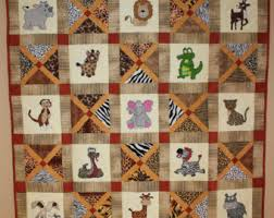 View Quilt Patterns by MsPDesignsUSA on Etsy & African safari animal applique PDF quilt pattern; easy pieced X block; baby  or child's Adamdwight.com