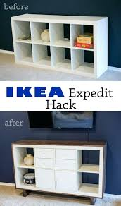 Expedit Tv Stand Hack Non Toxic Ikea Bookcase Multi Use Black Brown: Large  Size ...