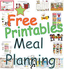 one week menu planner easy printable healthy eating plans planning healthy daily meals