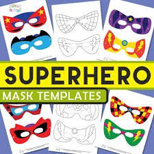 Perfect for hero, villain, or character themed costumes and parties! Superhero Mask Template Itsybitsyfun Com