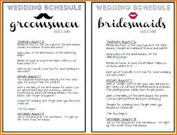 Wedding Schedule Template Delectable Timeline For Wedding Day Template Free Excel Vracceleratorco
