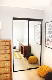 painted closet door ideas. Painted Closet Doors, A DIY On Outdated Brass Frame Mirrored Doors To Stylish Modern Black. Door Ideas