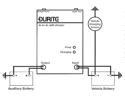 dc microprocessor leisure battery split charging systems Leisure Battery Wiring Diagram durite battery to battery charger motorhome leisure battery wiring diagram