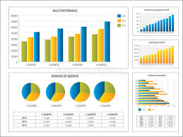 Investment Charts And Graphs Report With Financial Investment Chart Stock Vector
