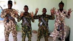 Nigerian army go investigate sojas wey do 4+4 Buhari sign - BBC News Pidgin