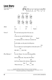 Love Story by Taylor Swift - Guitar Chords/Lyrics - Guitar Instructor |  Guitar chords and lyrics, Ukulele chords songs, Guitar chords