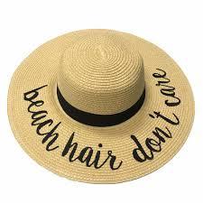 ST-2017 Beach Hair Don\u0027t Care Hats \u2013 girliegirloriginals