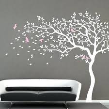 nursery tree decals white tree wall decal nursery wall decal baby girl wall decals kids room