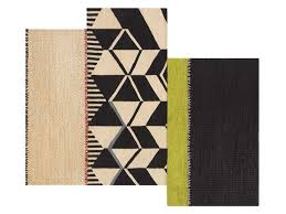 gan rustic chic rug with geometric shapes