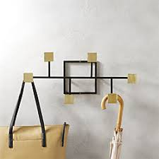 Crate And Barrel Wall Mounted Coat Rack Mudroom And Entryway Storage CB100 57