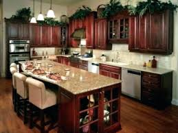 dark cherry cabinets with gray walls kitchen paint quartz countertops wh