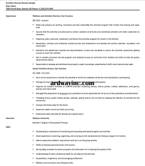 Director Sample Resume Activities Director Resume Sample Resume Builder