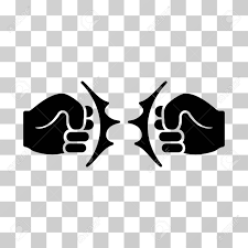 Fist Transparent Background Fist Fight Icon Vector Illustration Style Is Flat Iconic Symbol