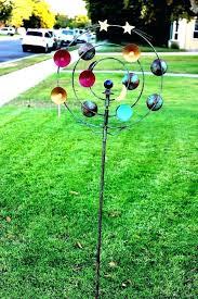 yard art wind spinners windmill metal cosmic spinner stake garden whirligigs w windmill yard