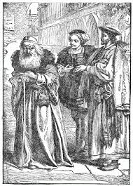 antonio and shylock illustration from tales from shakespeare  antonio and shylock illustration from tales from shakespeare 1901 public