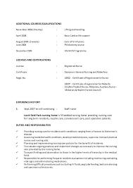 Staff Nurse Resume Format Resume Format For Experienced Staff Nurse Example Professional Rn