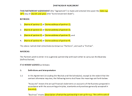 Partnership Agreement Template Free Download Partnership Agreement Template UK Template Agreements And Sample 20