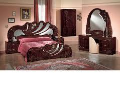 Mahogany Bedroom Furniture Set Dreamfurniturecom Vanity Mahogany Italian Classic Bedroom Set