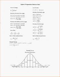 Formula Chart Algebra 2 68 Bright Algebra 2 Trigonometry Conversion Chart