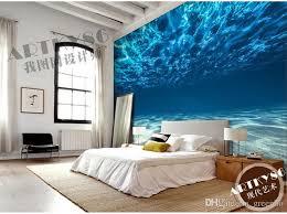 charming deep sea photo wallpaper custom ocean scenery wallpaper large mural wall painting room decor silk