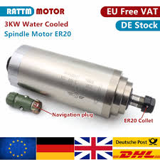 ES   CNC 3KW 220V <b>Water</b> Cooled Spindle Motor ER20&3KW ...