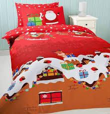 Kids Christmas Duvet Covers - Sweetgalas & Festive Father Christmas Xmas Santa Red Robin Slegde Sleigh Snow Adamdwight.com