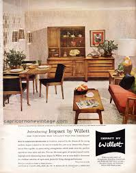 Impact By Willett Furniture Magazine Ad Mid Century Modern - 1950s house interior