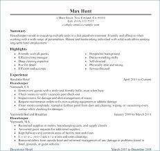 Hospital Housekeeping Resume From Housekeeping Resume Samples Free