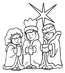 Kerst Kleurplaat Drie Koningen