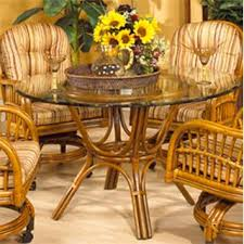 Boca Rattan 22013ANT-G Antigua Game Table in Royal Oak with Glass (Table  Only
