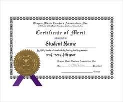 Merit Certificate Template Erieairfair