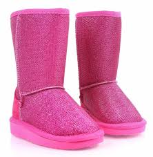 Fuchsia Nn Slip On Blink Kids Shoes Girls Youth Faux Fur Interior Boots Size 10