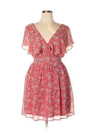 forever 21 plus size chart forever 21 100 polyester floral red casual dress size 0x plus