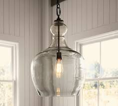 Warner Industrial Loft Large Blown Recycled Glass Edison Pendant industrial- pendant-lighting