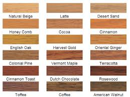 wood colours for furniture. wood stain charts colours for furniture e
