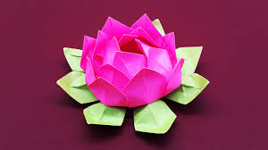 How To Make A Lotus Flower Out Of Paper Colors Paper Diy Paper Flower Tutorial Step By Step
