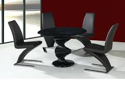 glass dining table set 4 chairs india round black kitchen with wood base twirl and in