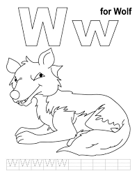 Small Picture Wolf Free Alphabet Coloring Pages Alphabet Coloring pages of