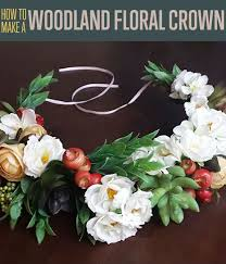 how to make a woodland flower crown diy hair accessories