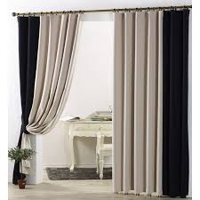 Black living room curtains Cotton Simplecasualblackoutcurtaininbeigeandblackcolorforbedroomor Livingroomcmt168251jpg Curtains Market Simple Casual Blackout Curtain In Beige And Black Color For