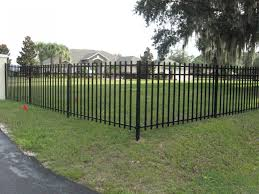 metal fence designs. Here\u0027s A Black Metal Fence Providing Border Around This Front Yard. Designs